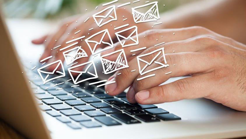 メールで進捗報告